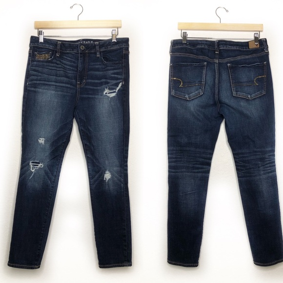 American Eagle Outfitters Denim - AEO- High Rise Jegging Super stretch Distressed